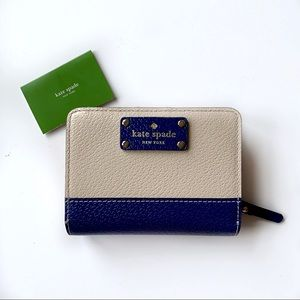 Kate Spade 2 Tone Colorblock Bifold Leather Wallet